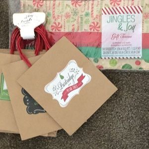 12 days of Christmas bags set of 12 w tissue paper